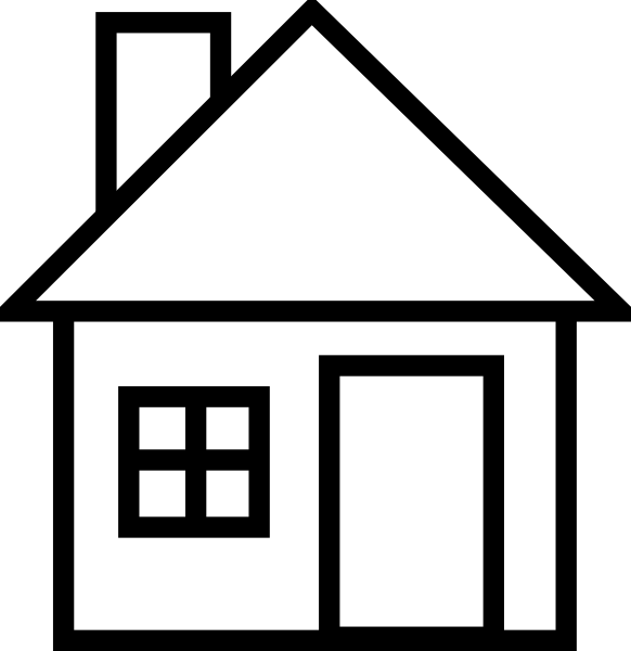 582x600 House Clip Art