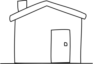 300x207 House Clipart Free Black And White