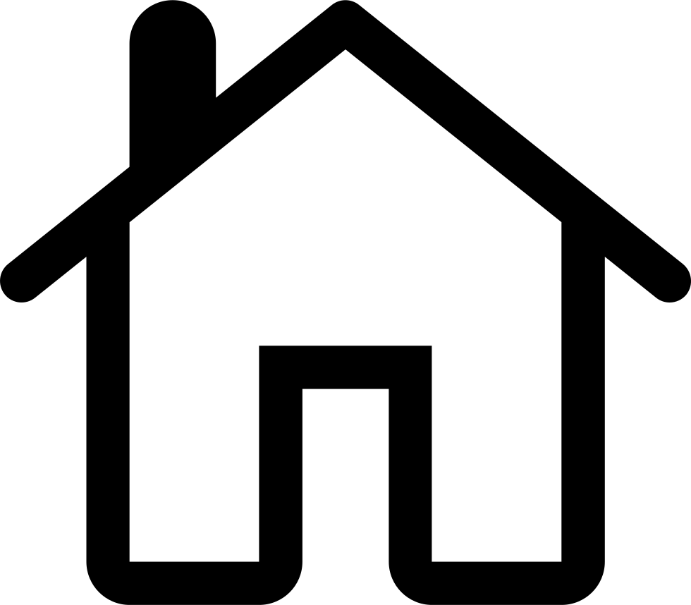 980x858 House Outline Icon Free Download Clipart