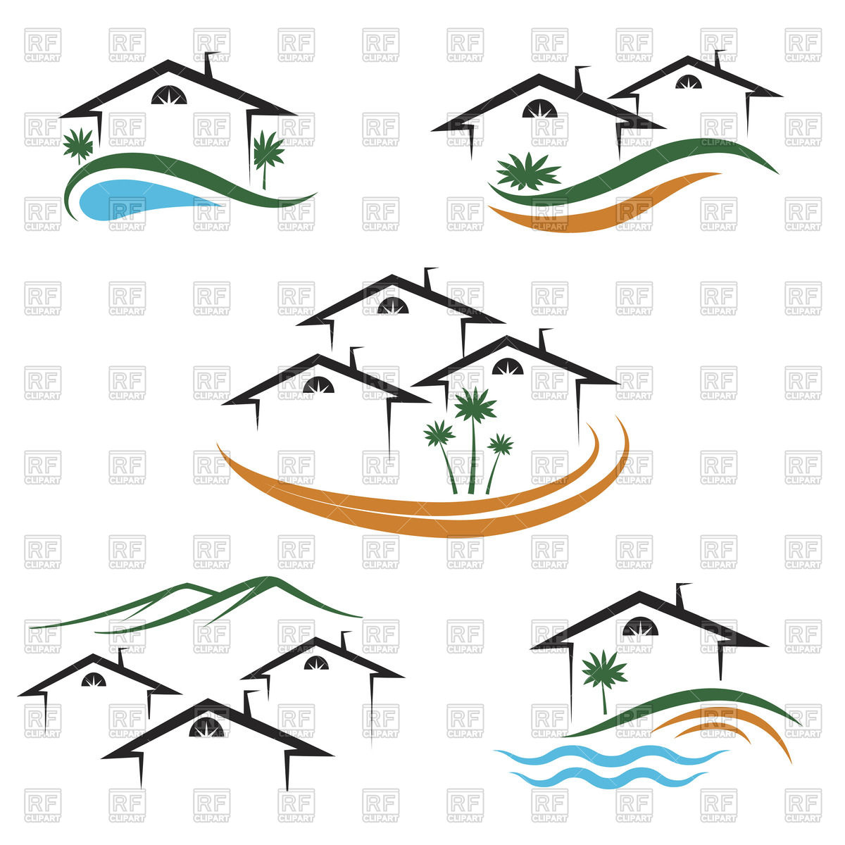 1200x1200 Outline Of House Or Apartments Icon For Real Estate Royalty Free