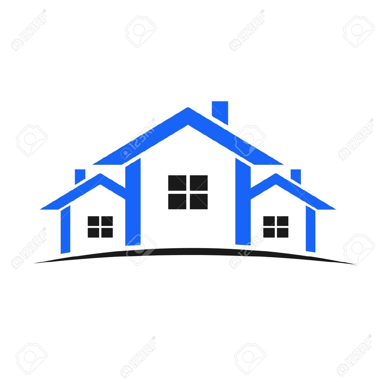 1300x1300 Roof Clipart House Outline