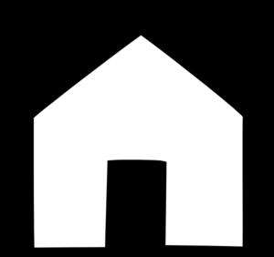 300x282 Black House Outline Clip Art
