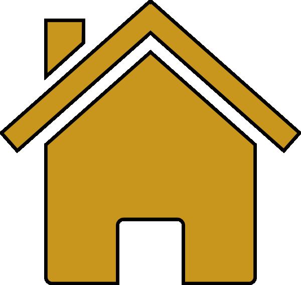 600x568 Gold House Clip Art