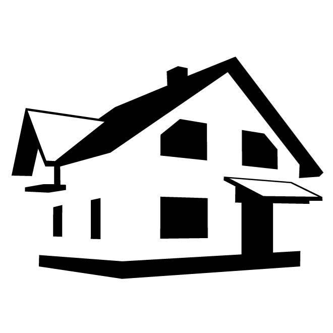 660x660 House Monochrome Clip Art