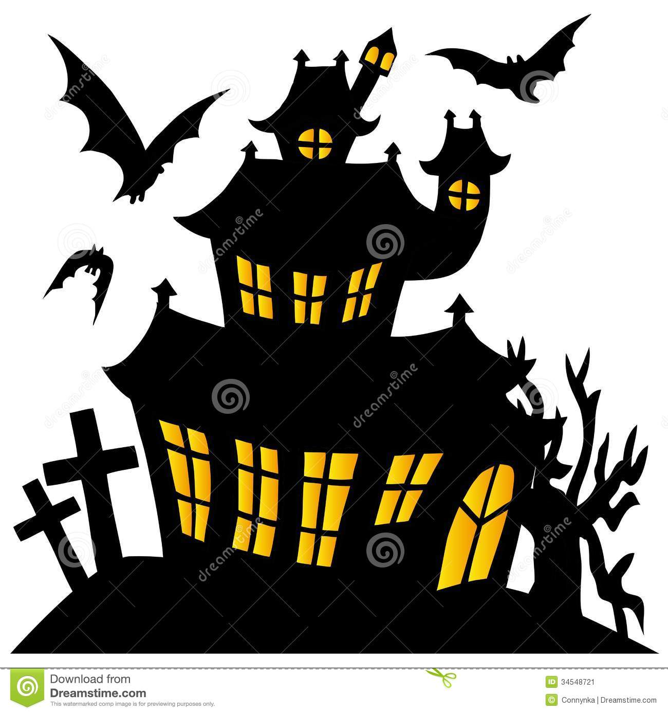 1300x1389 Haunted House Clipart Silhouette