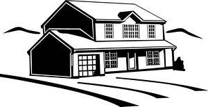 300x155 House Clipart Vector Graphics House Eps Clip Art Vector