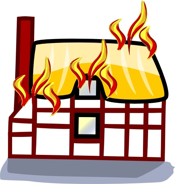 564x594 House Fire Insurance Clip Art Free Vector In Open Office Drawing