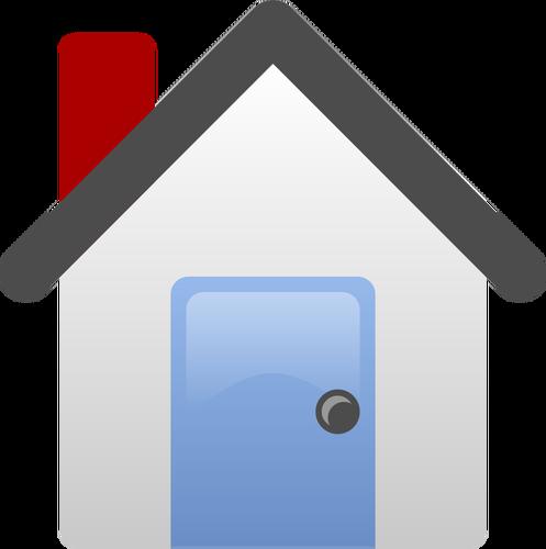 497x500 Simple House Vector Clip Art Public Domain Vectors