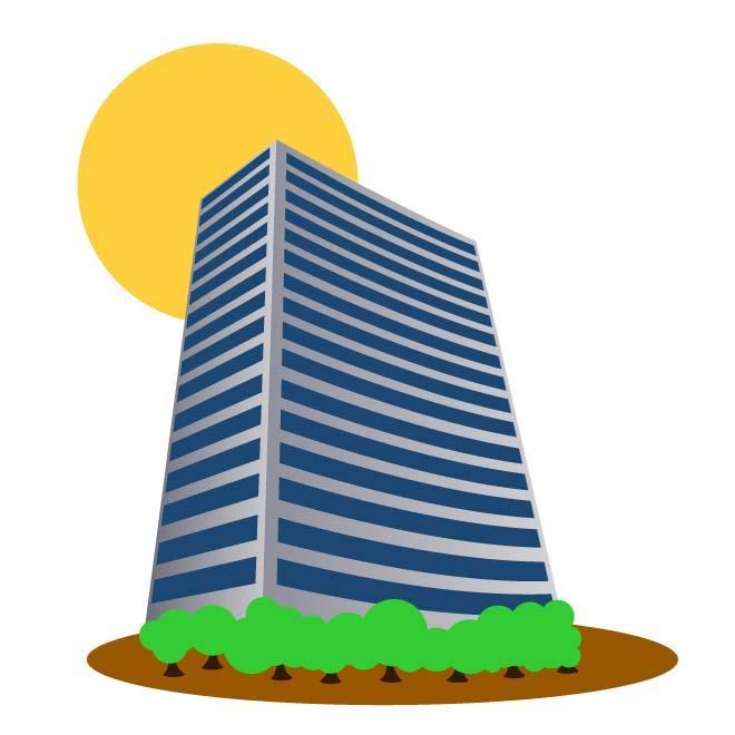 660x660 Tall Building Vector Clip Art