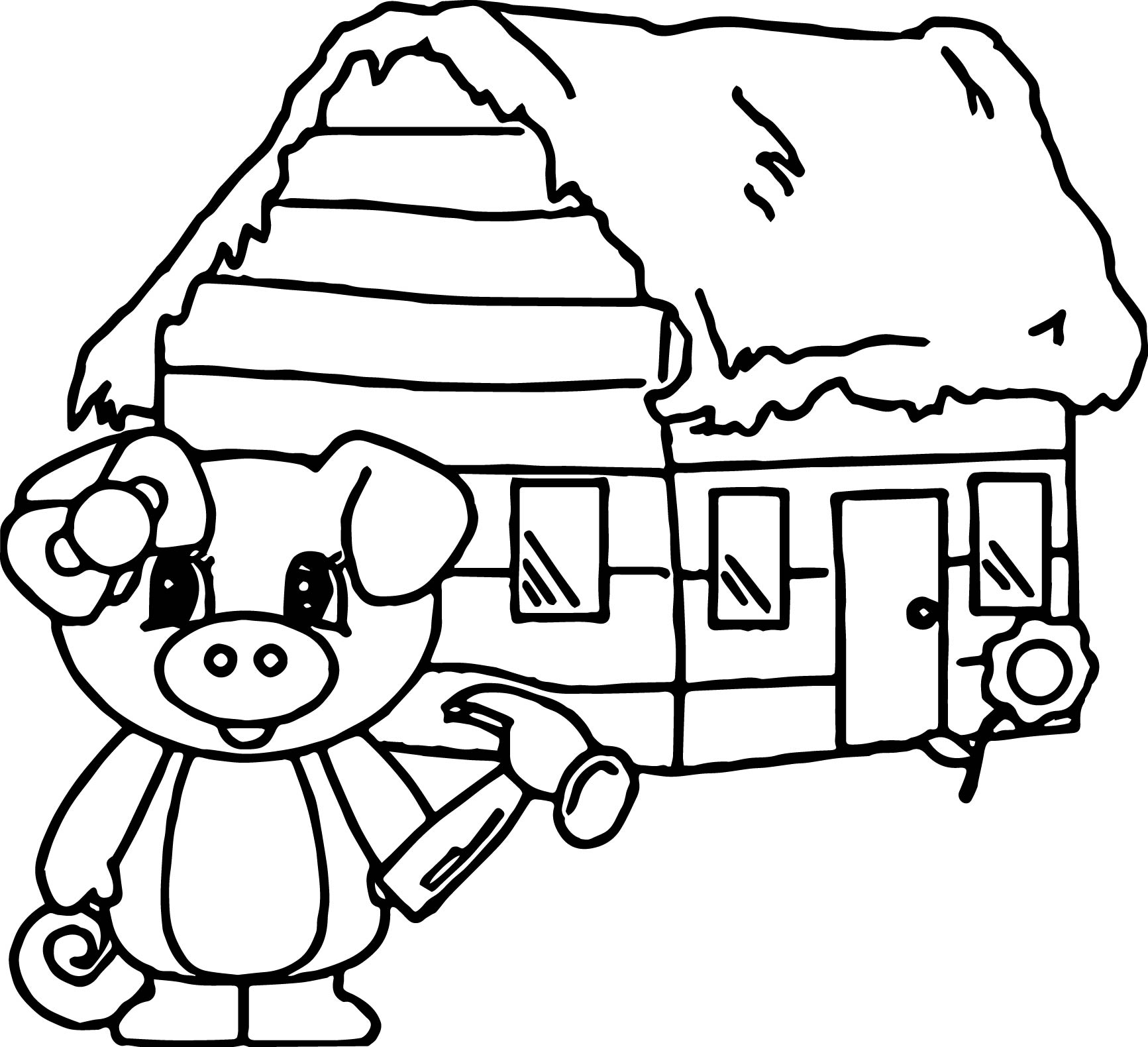 Wood House Coloring Pages