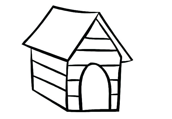 600x415 Dog House Coloring Page Home
