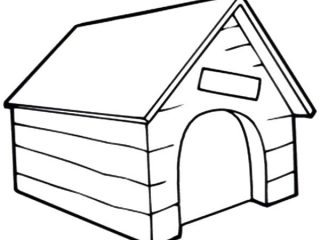 320x240 Dog House Coloring Page Kids Dog House Clipart Clipartfest Inside
