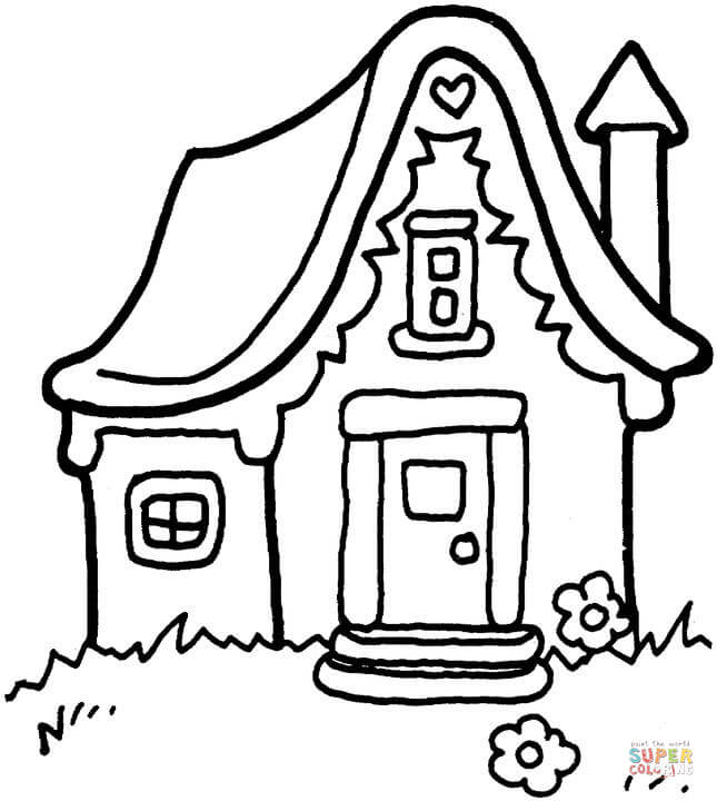 645x720 Fascinating House Coloring Page 77 In Coloring Pages For Kids