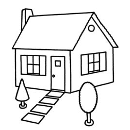 268x268 Free Printable House Coloring Pages Kids Coloring Pages