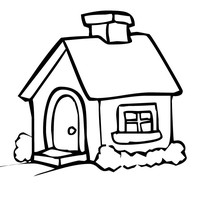 200x200 Freshcoloring Printable Houses Coloring Pages