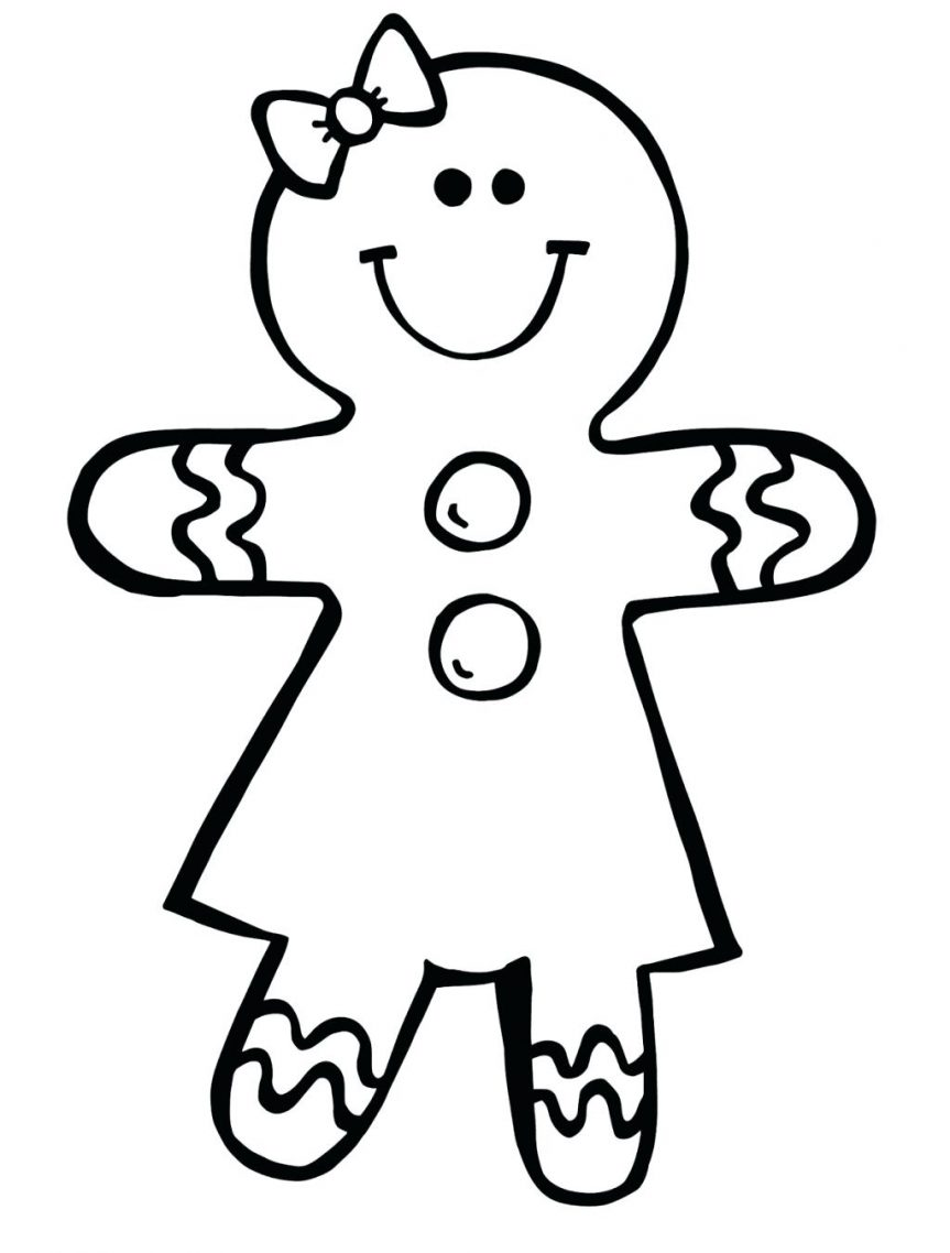 863x1138 Gingerbread Girl Coloring Pages House Pictures Colouring Page