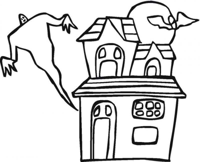 800x648 Haunted House Coloring Pictures