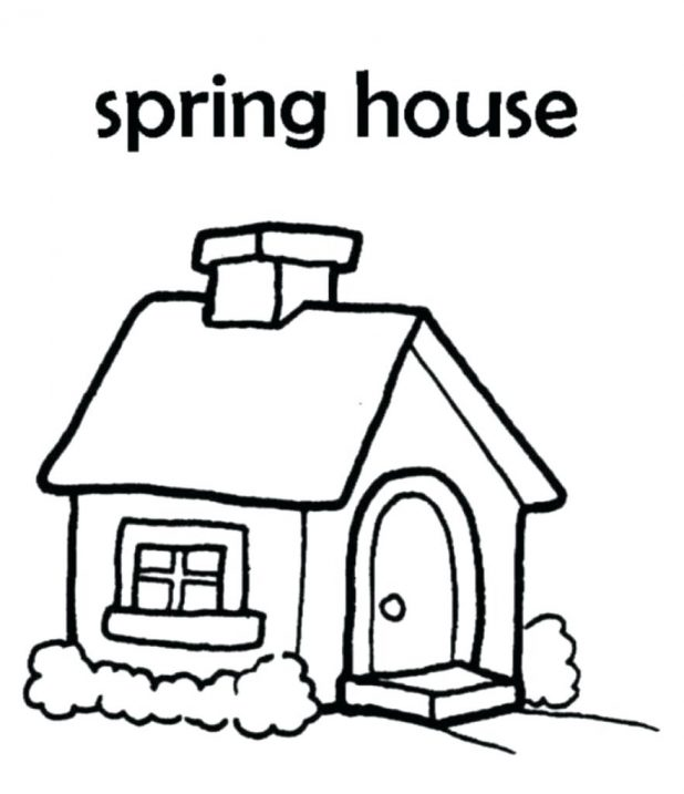 618x717 House Coloring Pages 101 Interesting Rooms Gingerbread House