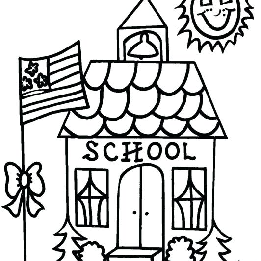 532x533 House Coloring Pages Free Printable Haunted House Coloring Pages