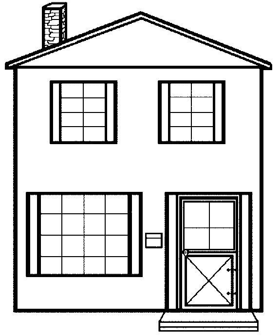 575x690 Lovely House Coloring Pages Printable 30 With Additional Coloring