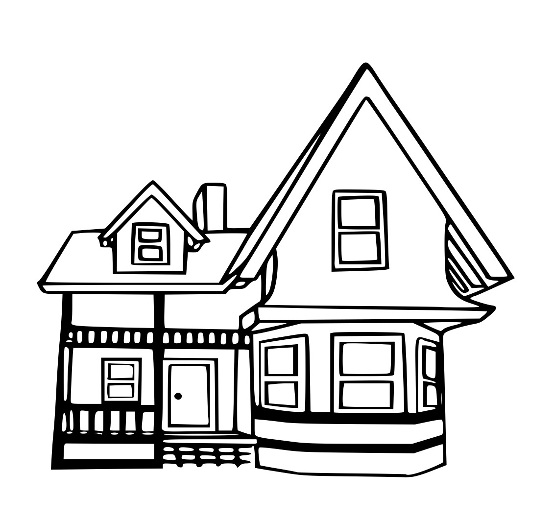 1131x1062 New Houses Coloring Pages 50
