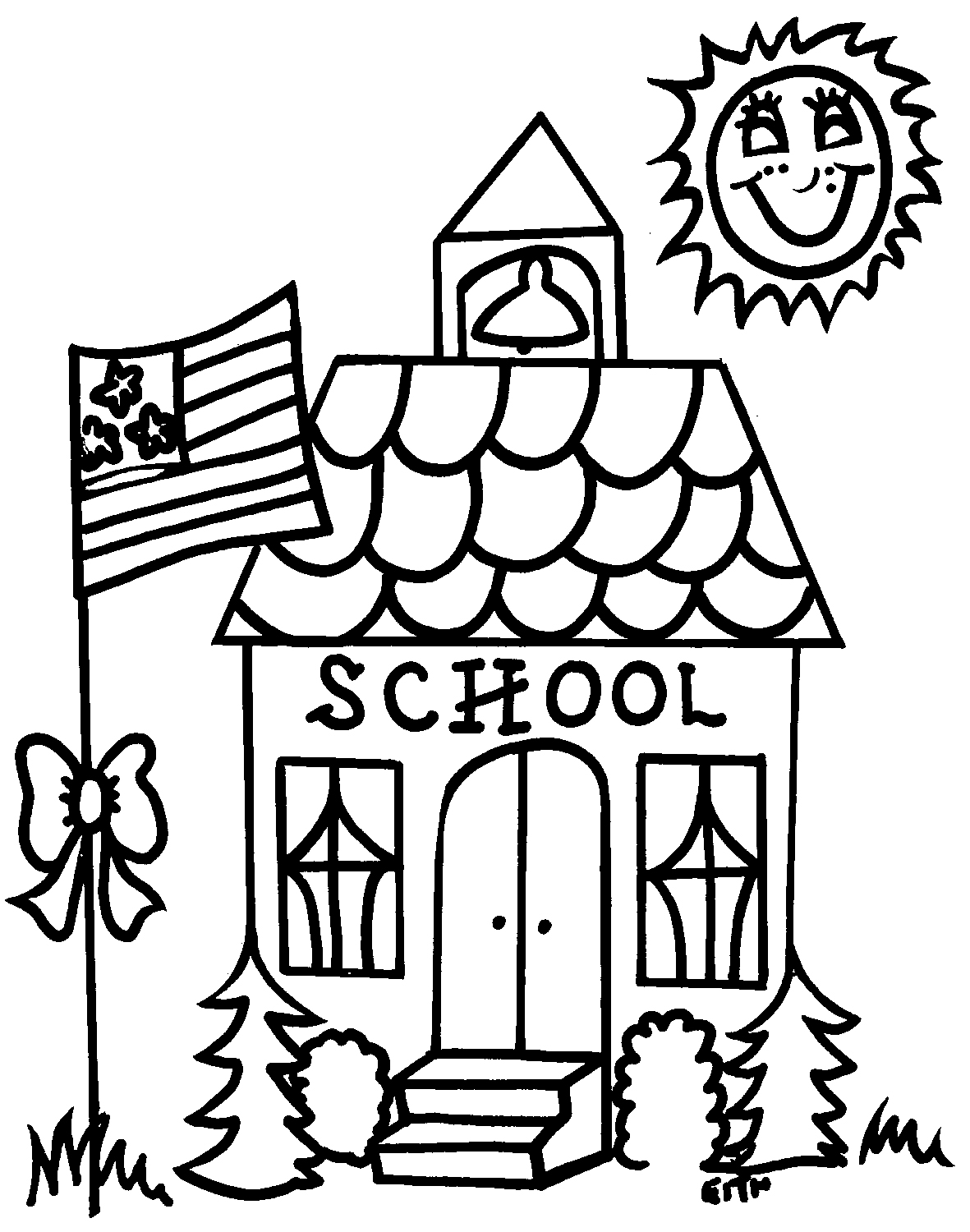 1181x1500 School House Coloring Page Download Free Printable Pages