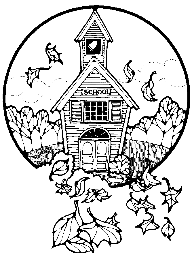 674x884 School House Coloring Pages Clipart Panda