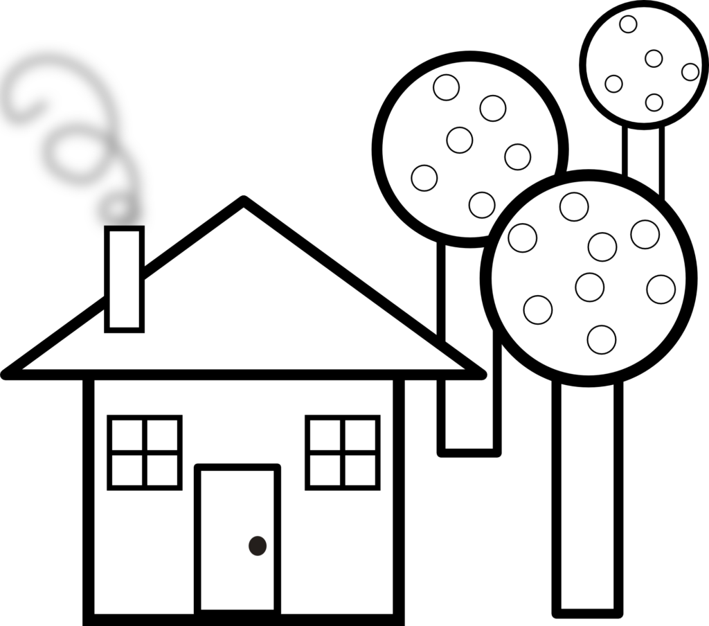 1024x904 Small House Clipart Black And White Clipartfox Small House