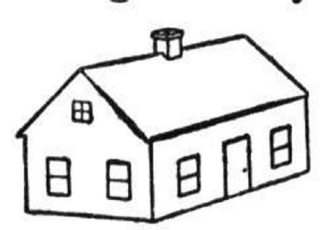 650x464 Top 80 House Coloring Pages