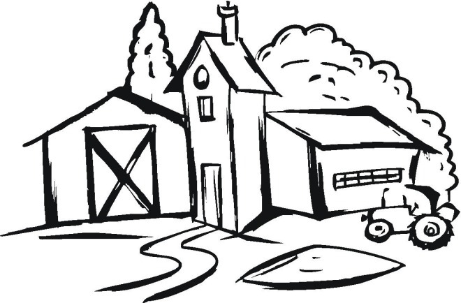 660x434 Coloring Pages Farm House Murderthestout