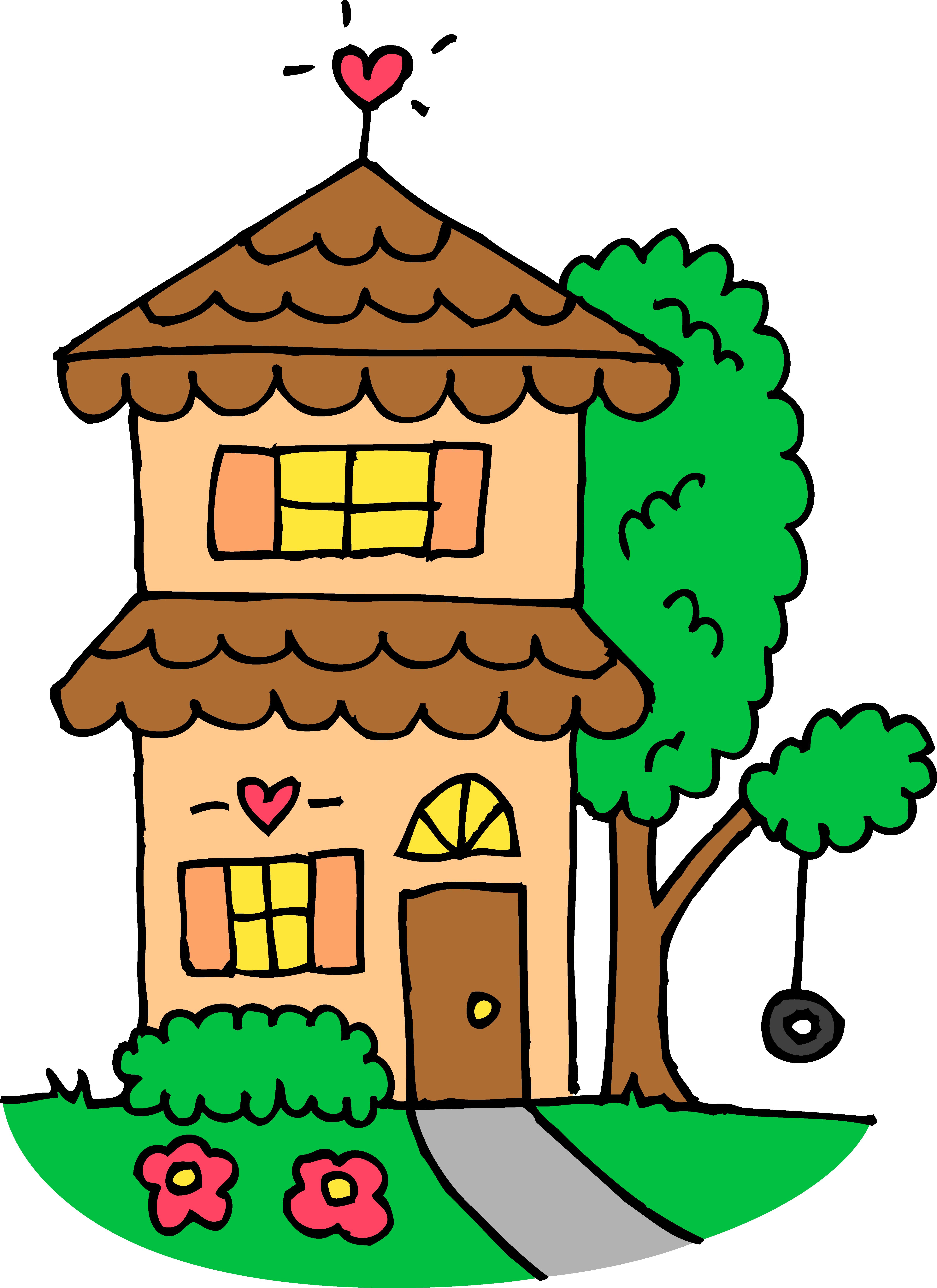 4844x6656 Clip Art Of A House