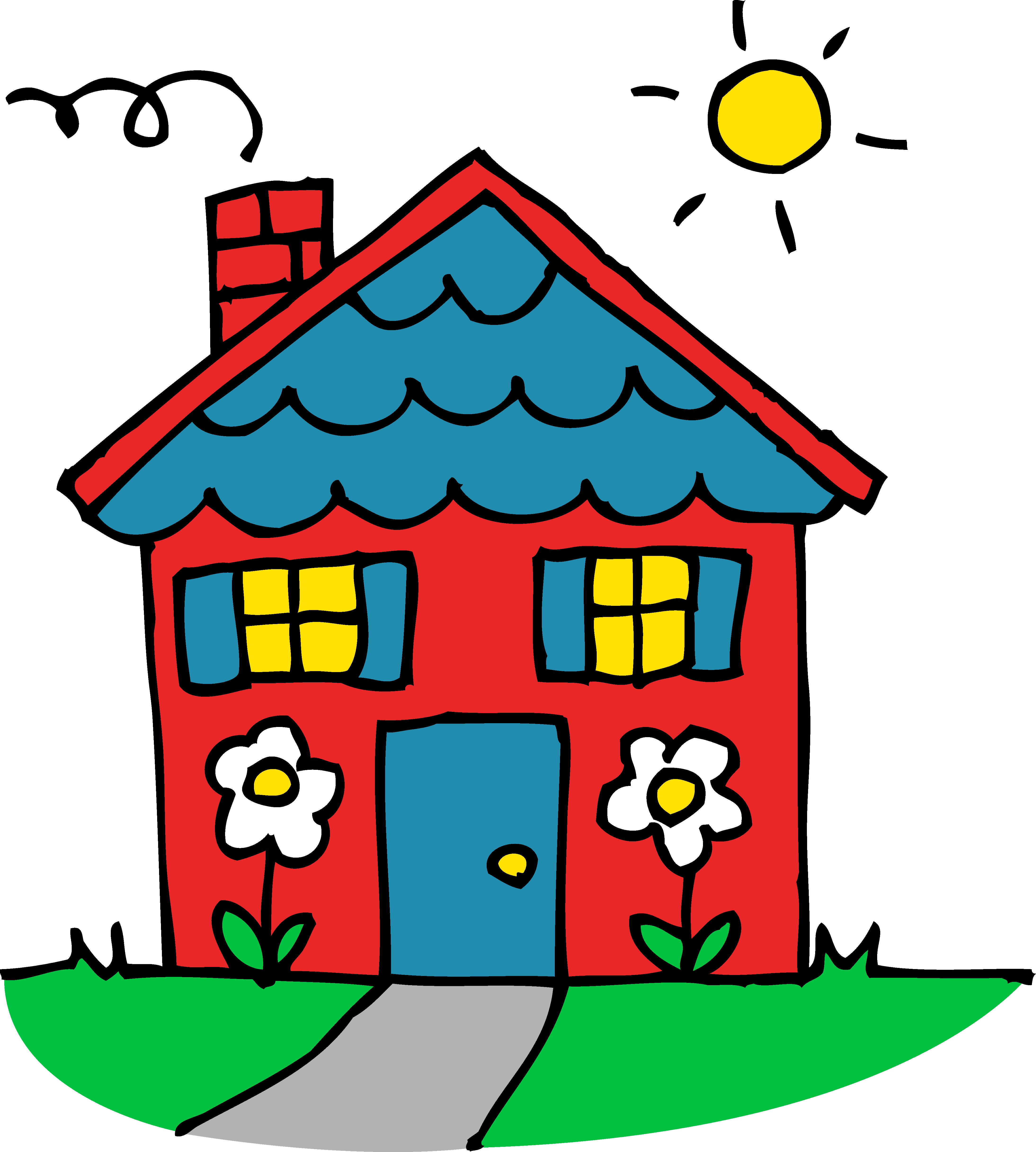 4377x4868 Clip Art Of A House Many Interesting Cliparts