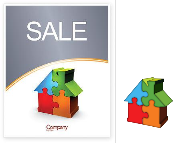 600x490 House For Sale Clip Art