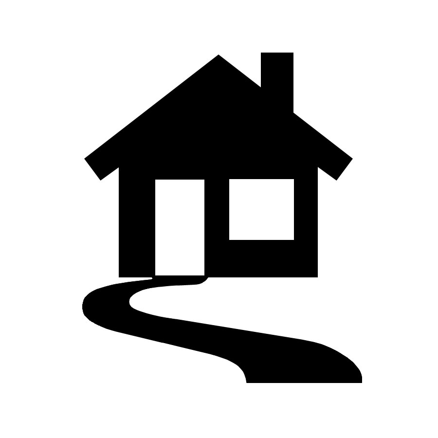 900x900 Image Of House Outline Clipart
