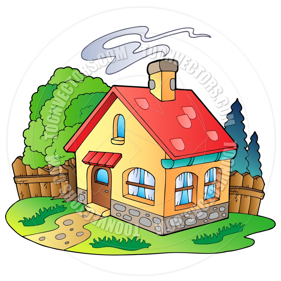 940x940 Cartoon Small Family House By Clairev Toon Vectors Eps