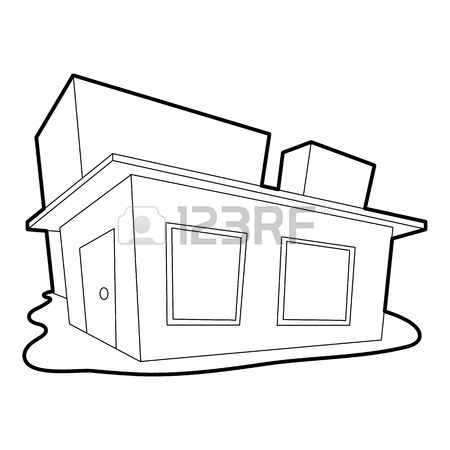 450x450 Tropical House Icon. Outline Illustration Of Tropical House Vector