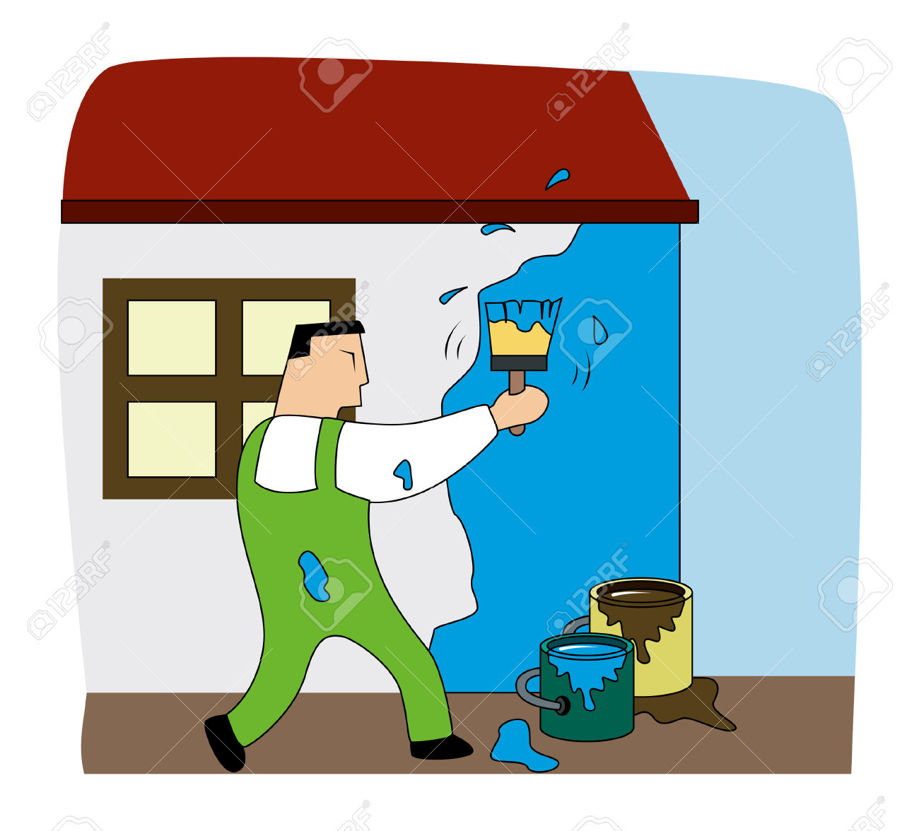 House Painter Clipart | Free download best House Painter ...
