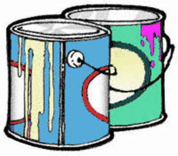 350x306 House Painting Clip Art