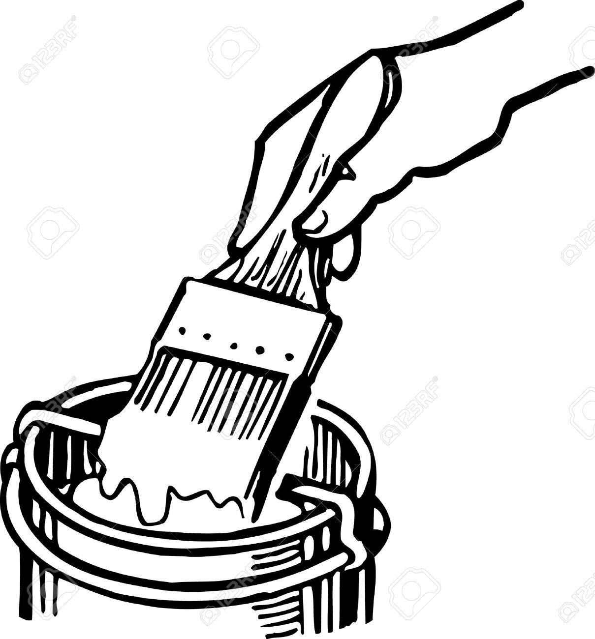 1209x1300 Brush Clipart House Paint