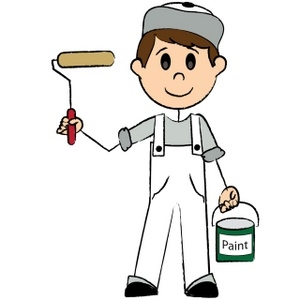 300x300 Building Painting Clipart