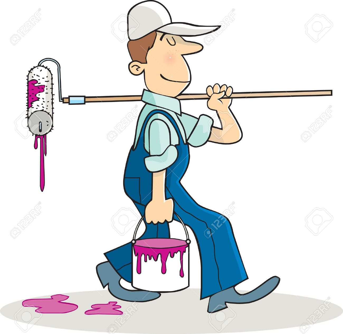 1300x1268 Painter And Decorator Clipart