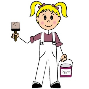 300x300 House Painter Clipart Free