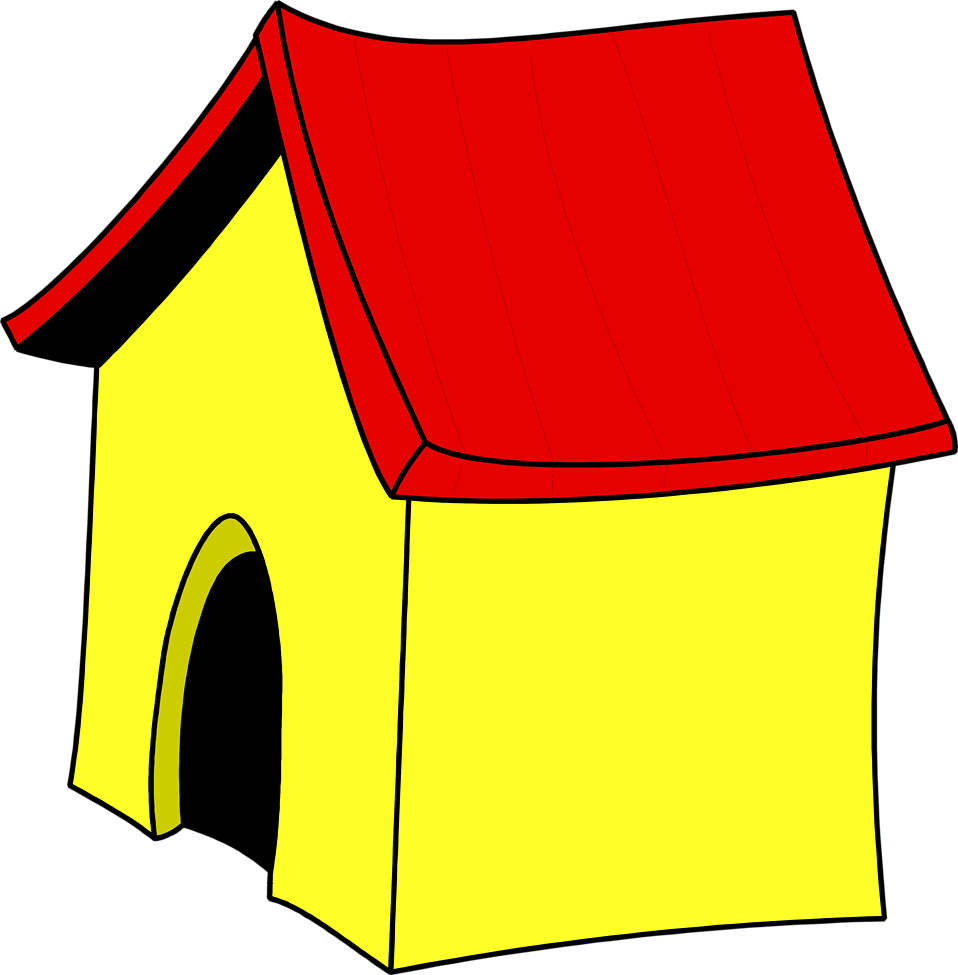 958x975 Dog House Free Stock Photo Illustration Of A Yellow Dog House