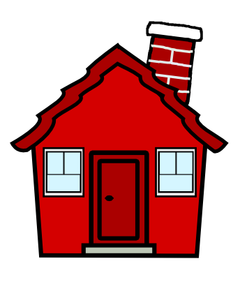 344x404 Free Clipart House