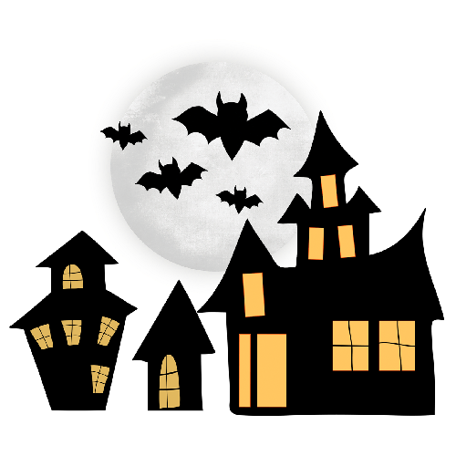 500x500 Halloween Haunted House Clipart