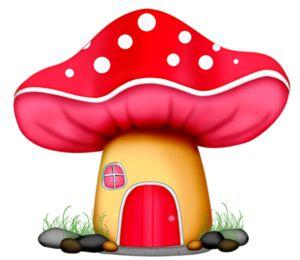 300x260 Mushroom Fairy House Clipart