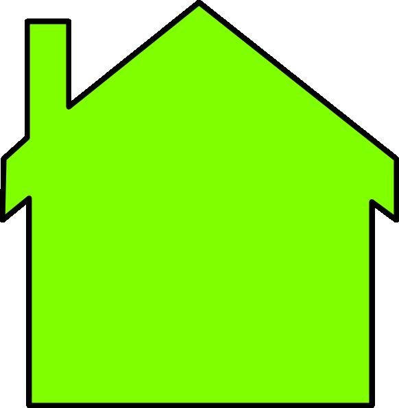 582x596 New House Outline Clip Art