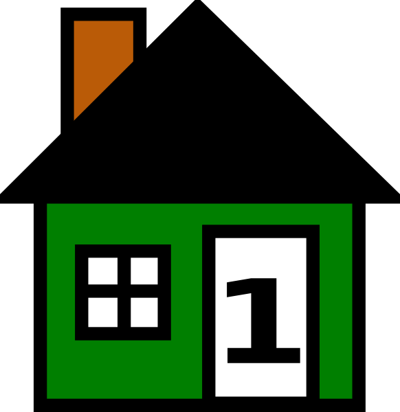 582x600 Number Green House Clip Art