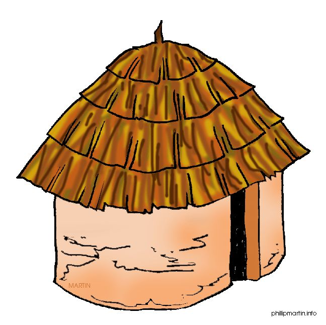 648x646 Old House Clipart Hut