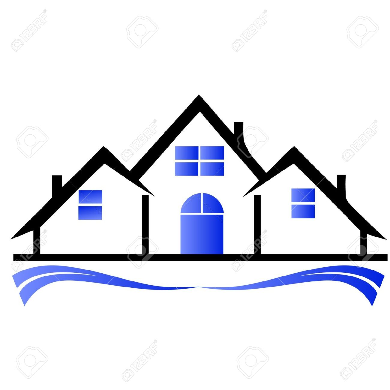 1300x1300 Real Estate House Clipart